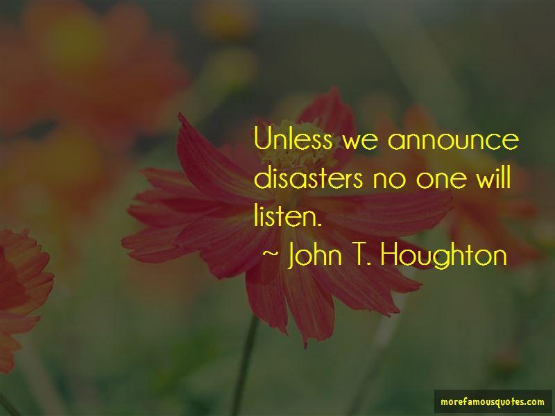 John T. Houghton Quotes