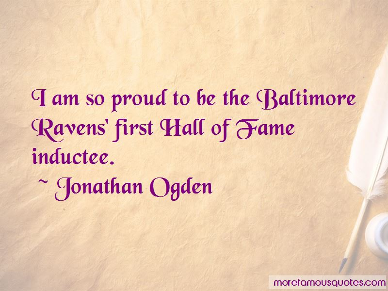 Jonathan Ogden Quotes