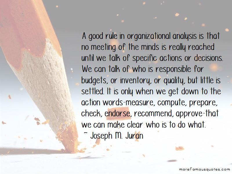 Joseph M. Juran Quotes