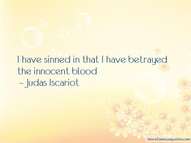 Judas Iscariot Quotes