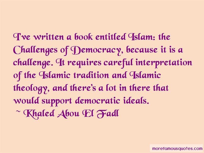 Khaled Abou El Fadl Quotes Pictures 2