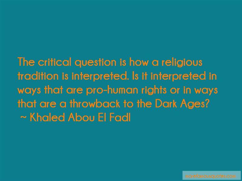Khaled Abou El Fadl Quotes Pictures 3