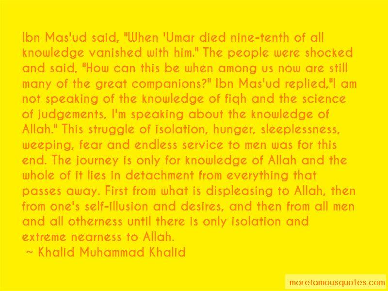 Khalid Muhammad Khalid Quotes