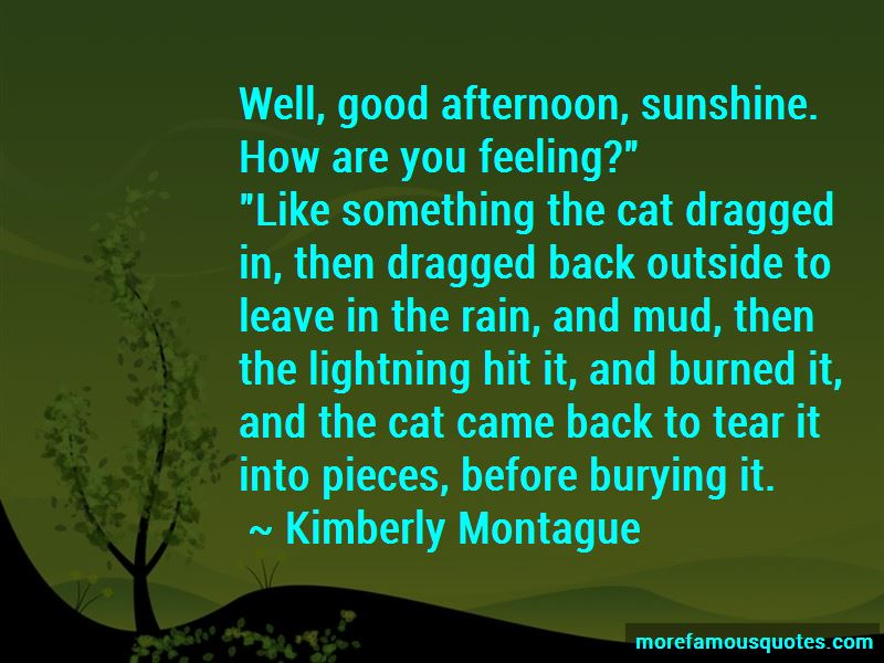 Kimberly Montague Quotes