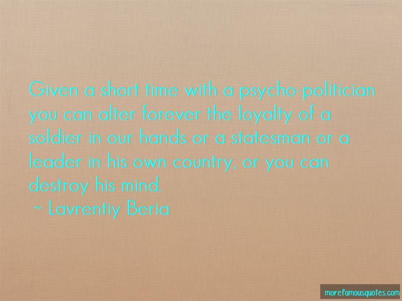 Lavrentiy Beria Quotes