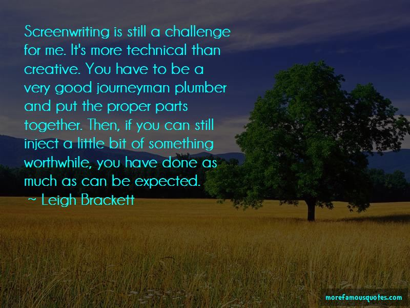 Leigh Brackett Quotes Pictures 2