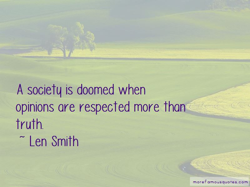 Len Smith Quotes