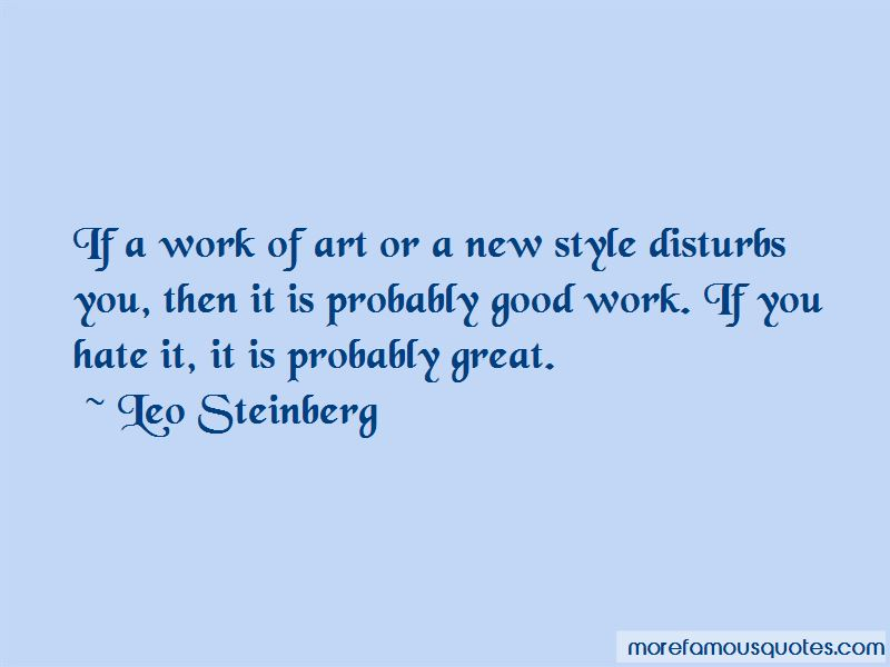 Leo Steinberg Quotes Pictures 4