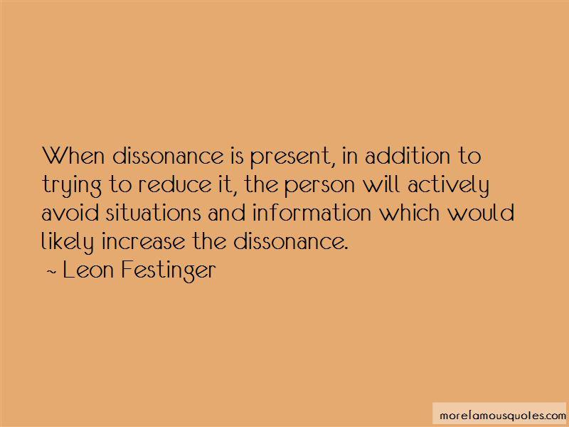Leon Festinger Quotes Pictures 2