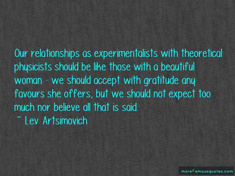 Lev Artsimovich Quotes