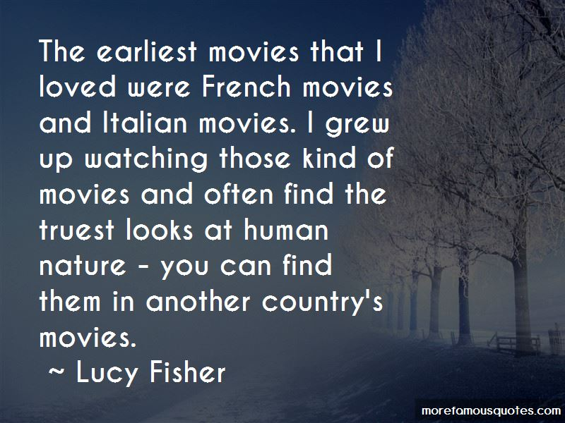 Lucy Fisher Quotes