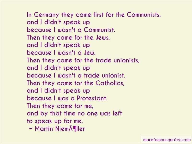 Friedrich Gustav Emil Martin Niemoller Quotes