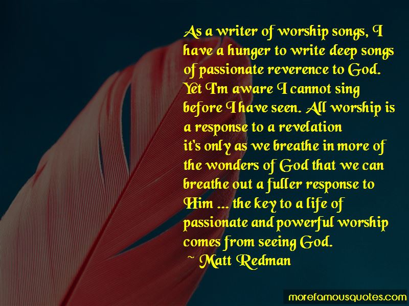 Matt Redman Quotes