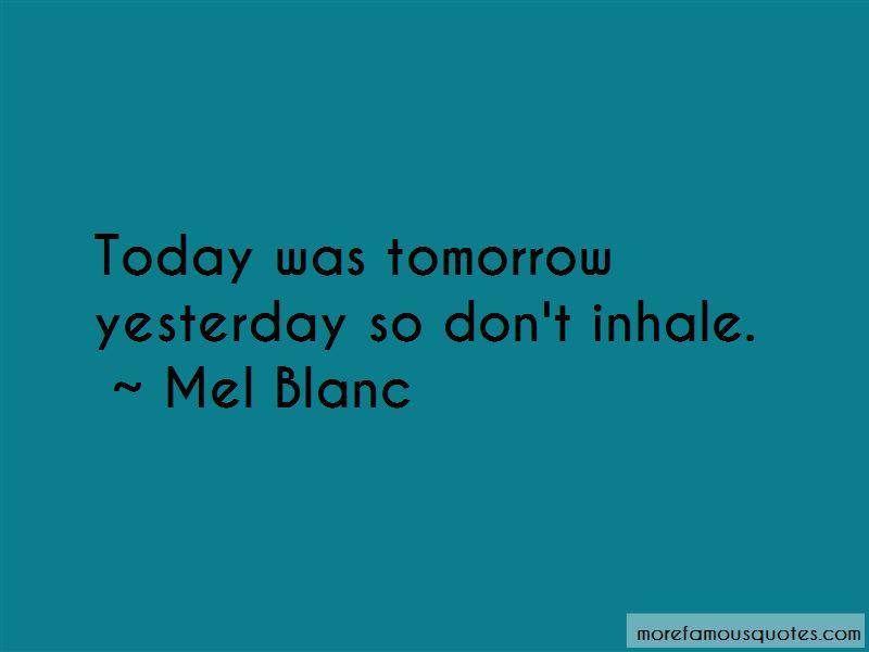 Mel Blanc Quotes