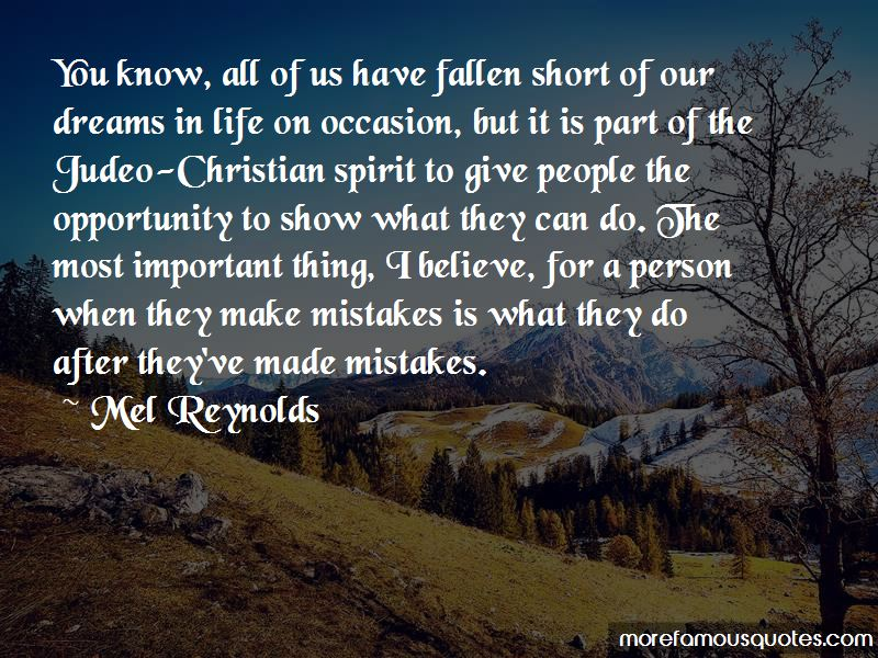 Mel Reynolds Quotes