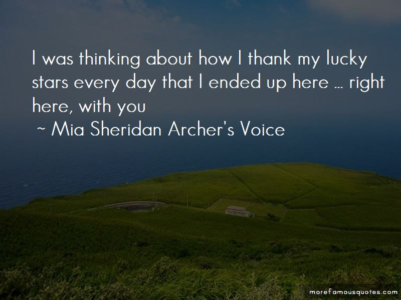 Mia Sheridan Archer's Voice Quotes Pictures 3