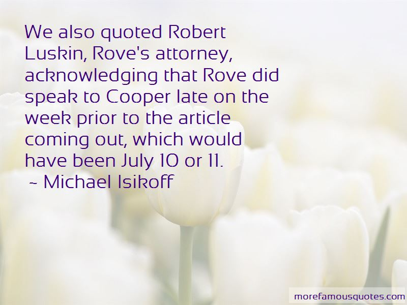 Michael Isikoff Quotes Pictures 2