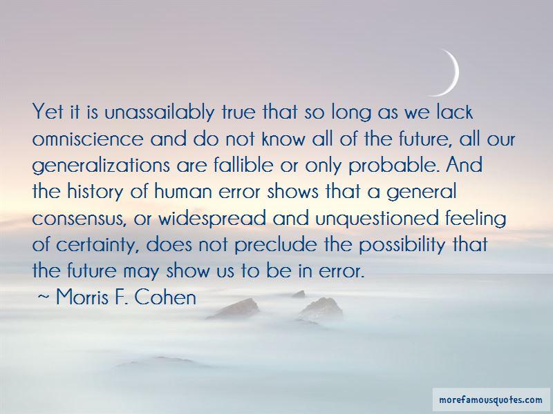 Morris F. Cohen Quotes