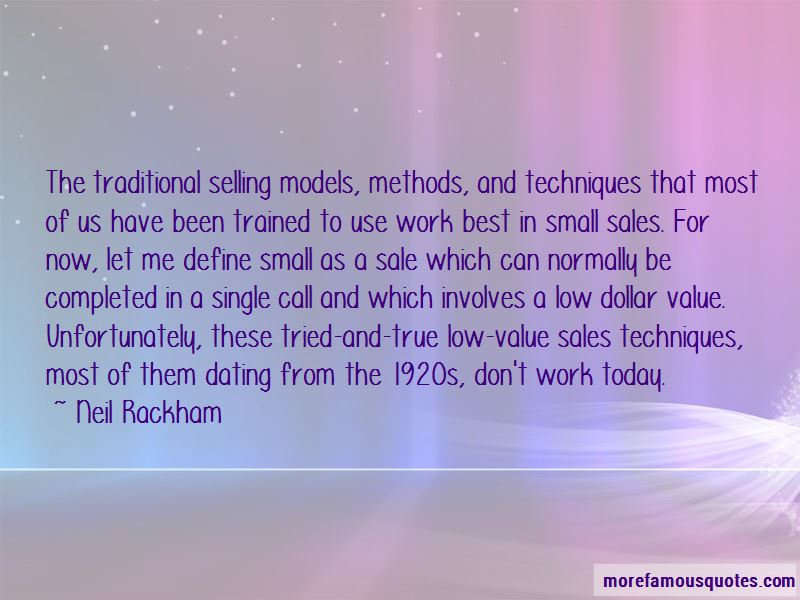 Neil Rackham Quotes