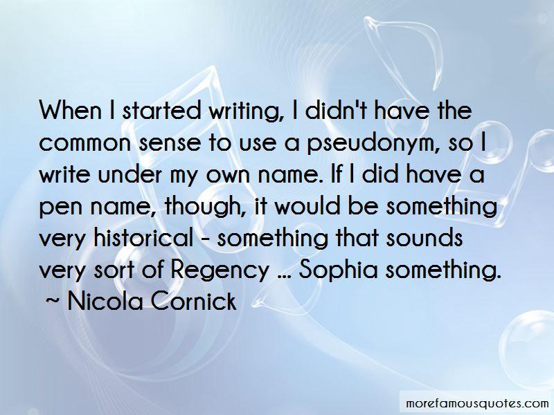 Nicola Cornick Quotes