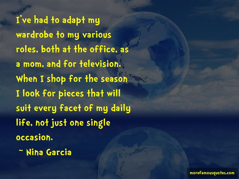 Nina Garcia Quotes