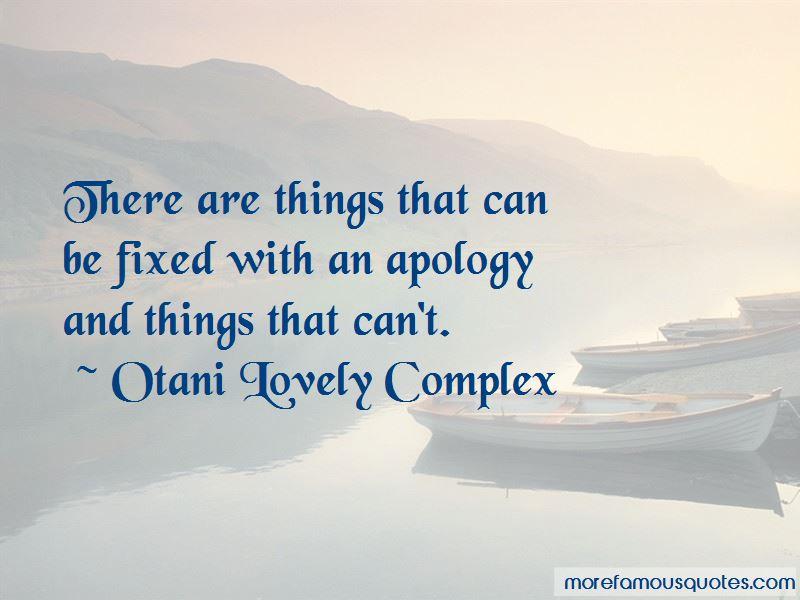 Otani Lovely Complex Quotes