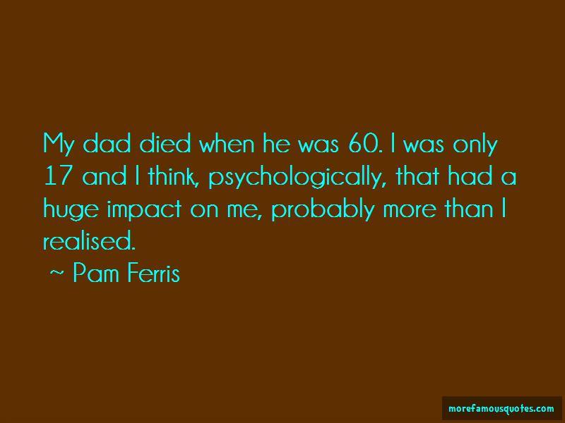 Pam Ferris Quotes