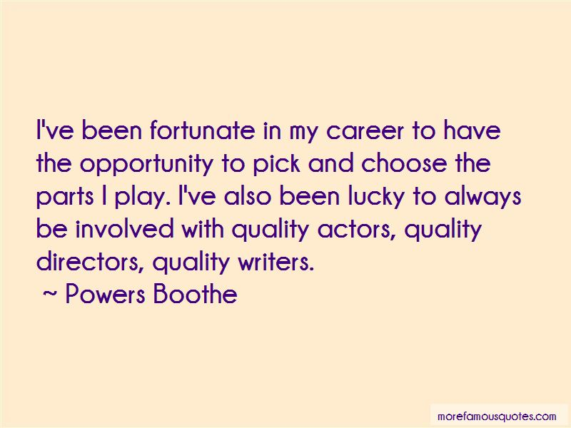 Powers Boothe Quotes