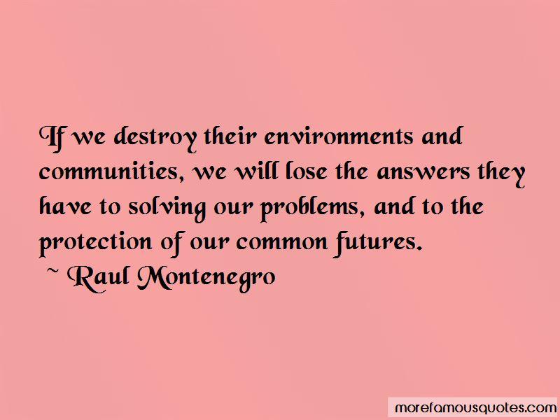 Raul Montenegro Quotes