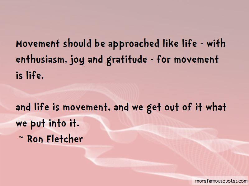 Ron Fletcher Quotes