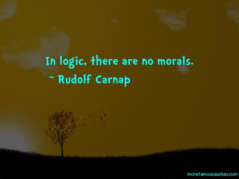 Rudolf Carnap Quotes