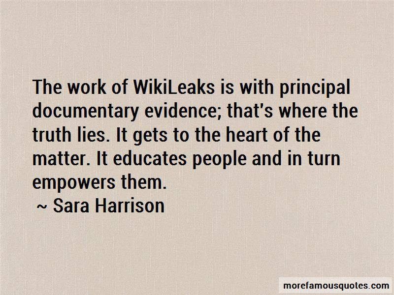 Sara Harrison Quotes