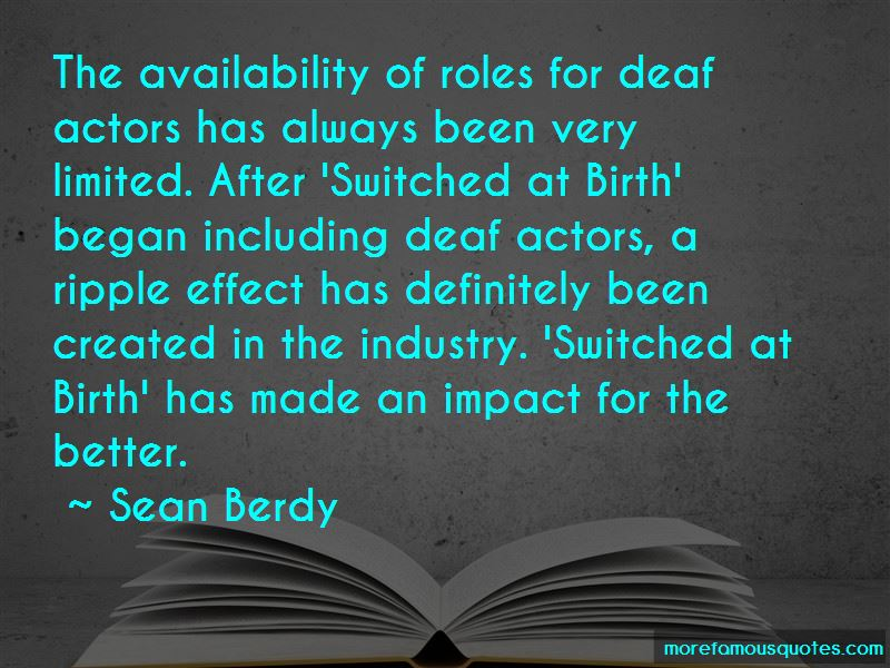 Sean Berdy Quotes