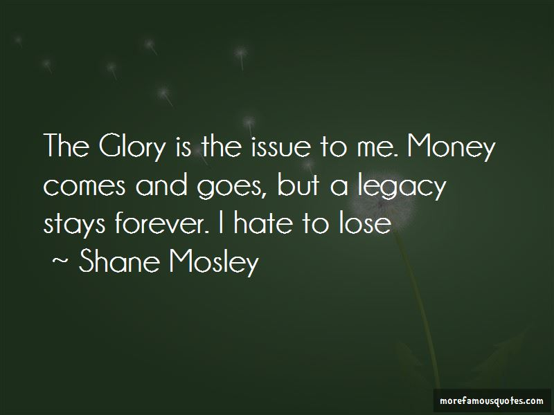 Shane Mosley Quotes