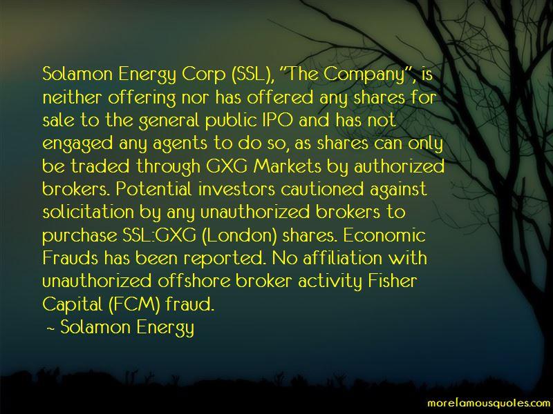Solamon Energy Quotes