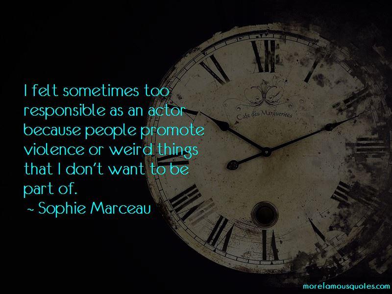 Sophie Marceau Quotes