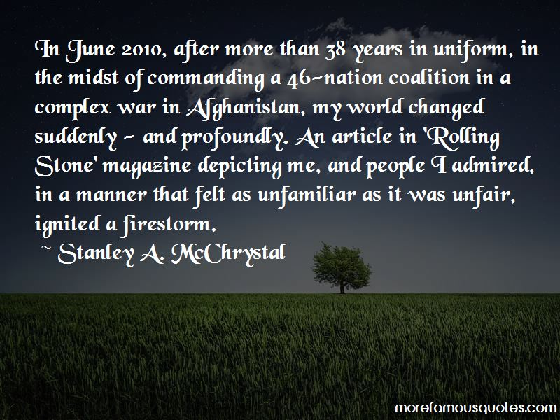 Stanley A. McChrystal Quotes Pictures 3