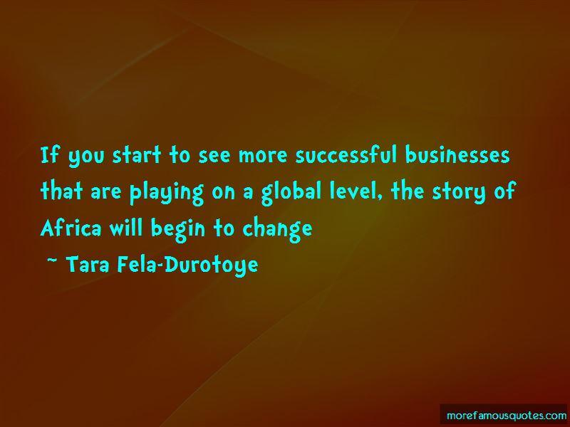 Tara Fela-Durotoye Quotes