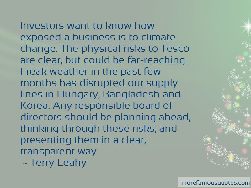Terry Leahy Quotes