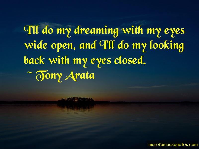 Tony Arata Quotes