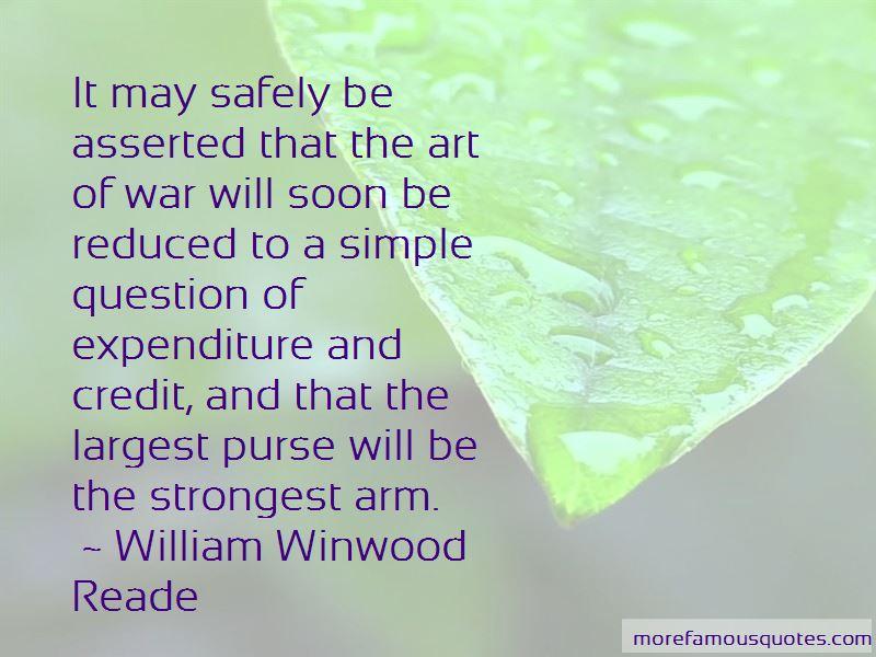 William Winwood Reade Quotes