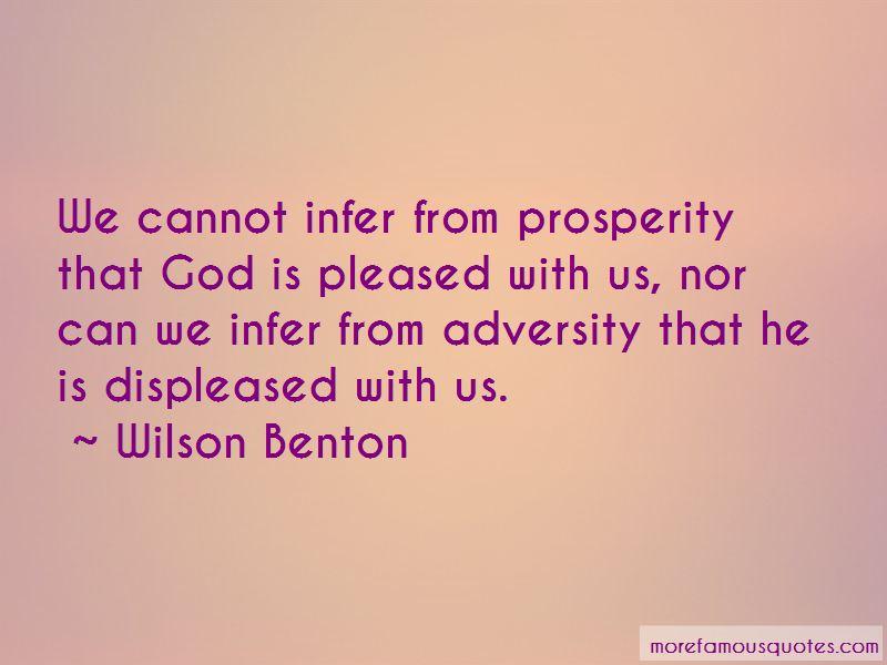 Wilson Benton Quotes