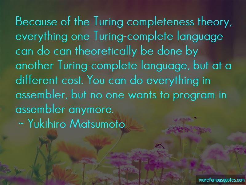 Yukihiro Matsumoto Quotes Pictures 4