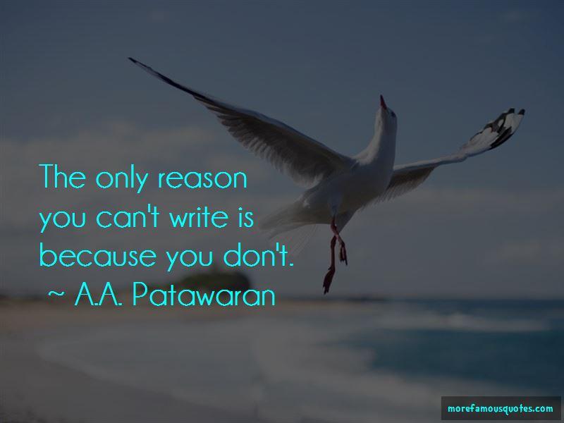 A.A. Patawaran Quotes