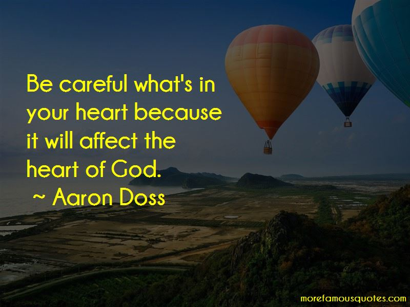 Aaron Doss Quotes