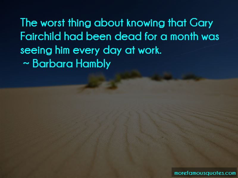 Barbara Hambly Quotes Pictures 3