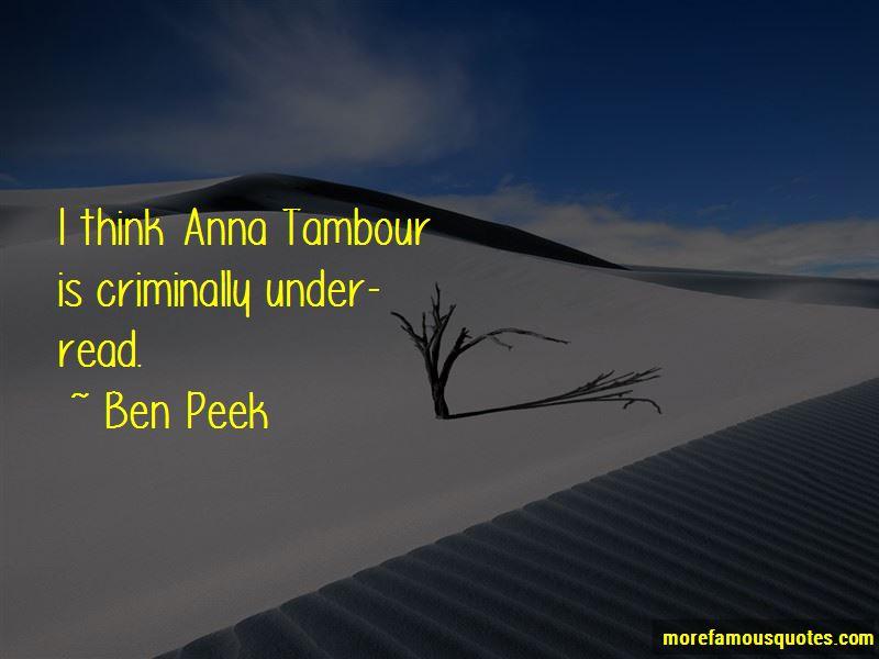 Ben Peek Quotes