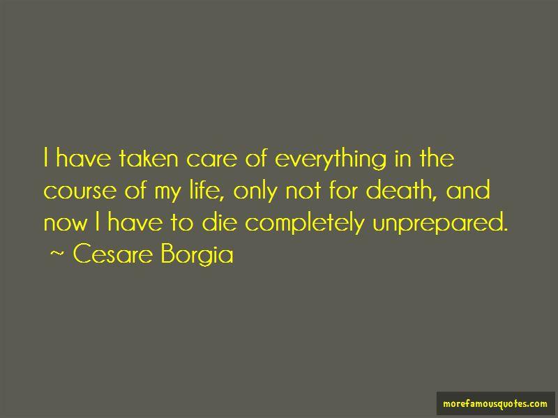Cesare Borgia Quotes