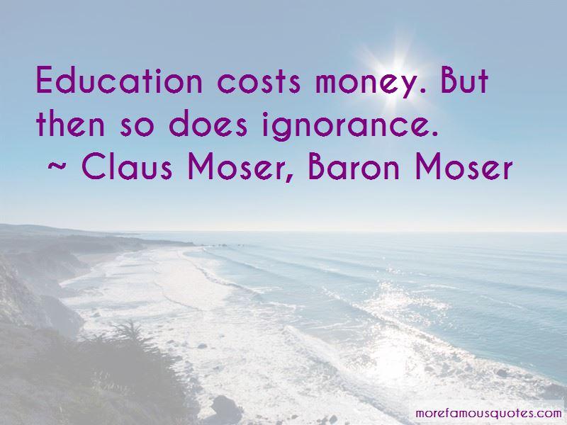 Claus Moser, Baron Moser Quotes