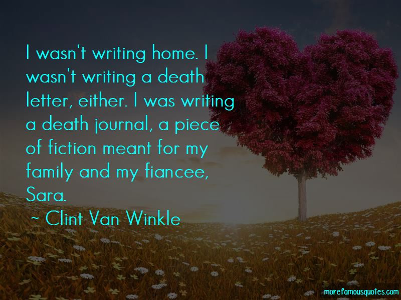 Clint Van Winkle Quotes
